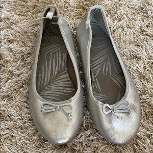 Girls' GAP Silver Ballerinas Flats - Size 4